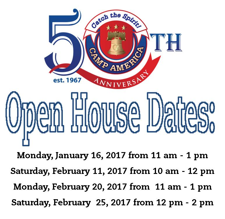 2017 Open House Dates