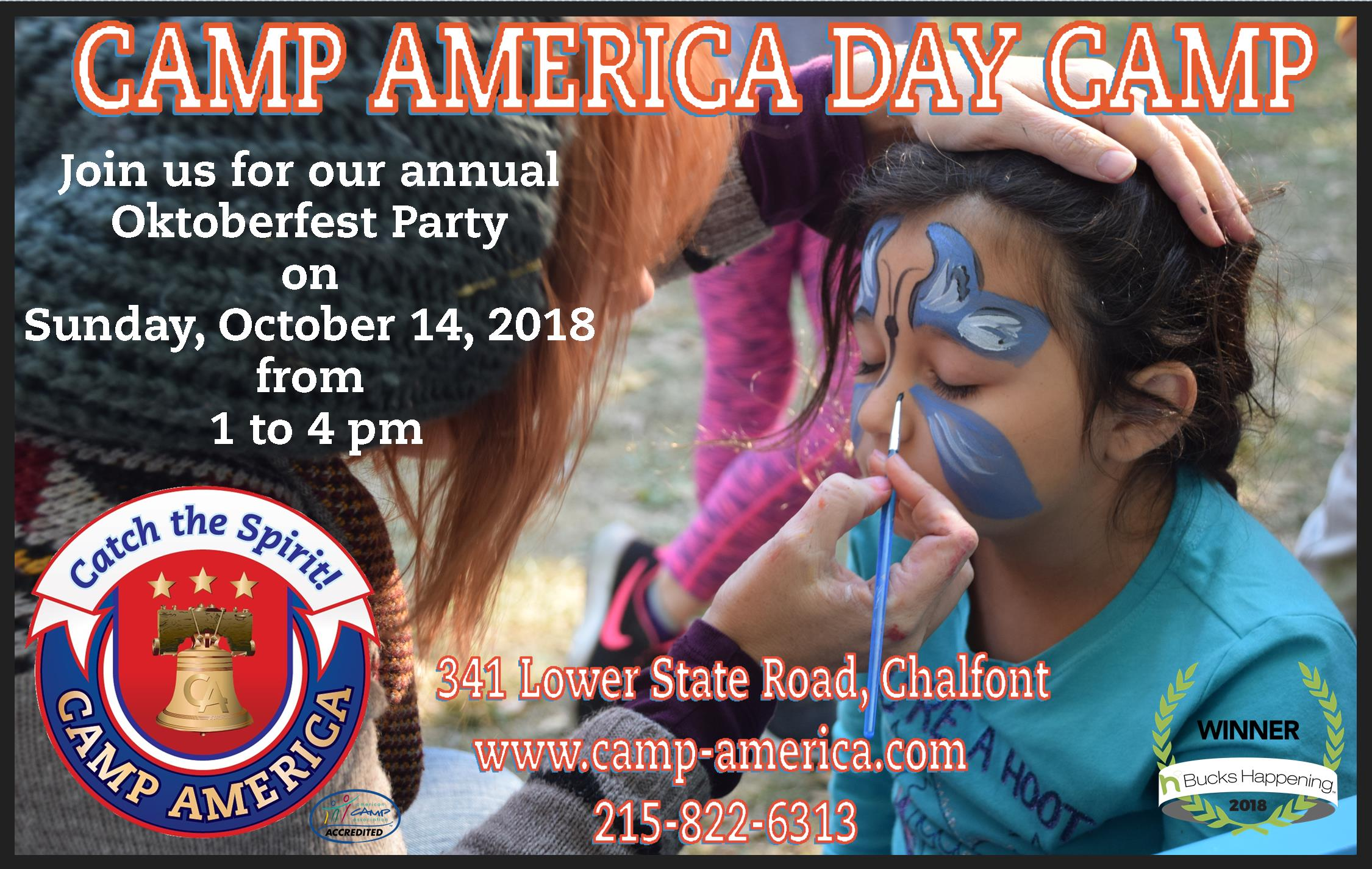 Camp America's Oktoberfest is a fun filled family day!