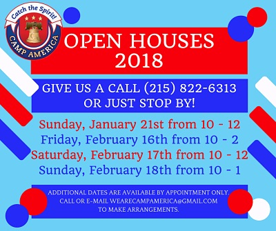 Camp America Day Camp Open House Dates 2018